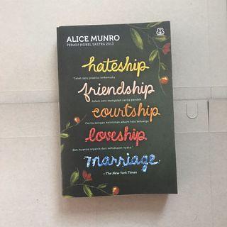 Novel Alice Munro - Hateship, friendship, Marriage, - Kumpulan Cerpen
