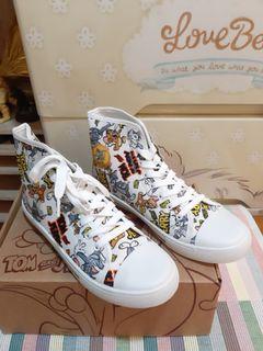 日本正版Tom&Jerry湯姆與傑利鼠 高筒休閒鞋(尺寸26/41)僅有一雙