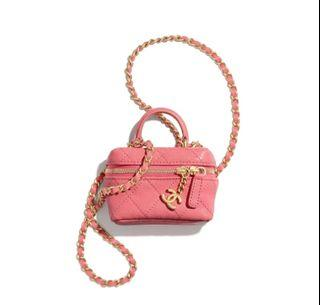 (只有一個) 2021 新款 Chanel mini bag pink 粉紅色