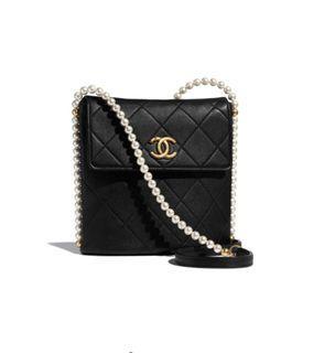 2021新款 Chanel珍珠袋 黑色