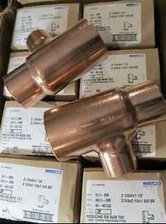 5 pic wort pressure copper fitting 3x1-1/2 x 3 cxcxc wrot tee