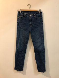 7 for all mankind 直筒彈性牛仔褲