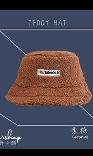 全新泰奶色泰迪帽漁夫帽