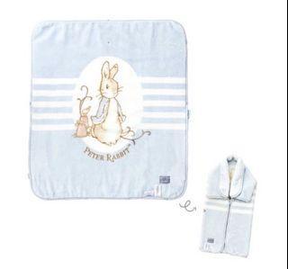 (二手)經典比得兔防踢袖毯/蓋毯