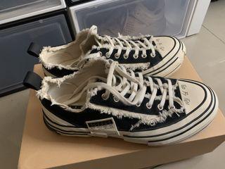 正品 xVessel 解構鞋 吳建豪 帆布鞋 硫化鞋 帆布鞋 懶人鞋 黑色