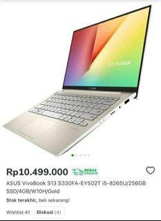 Asus  Vivobook  S13 S330FA  i5 256GB ssd