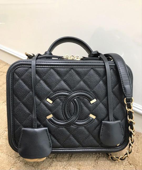 Authentic Chanel Vanity case small