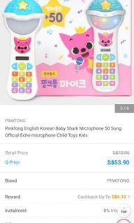 Baby shark microphone with songs korean
