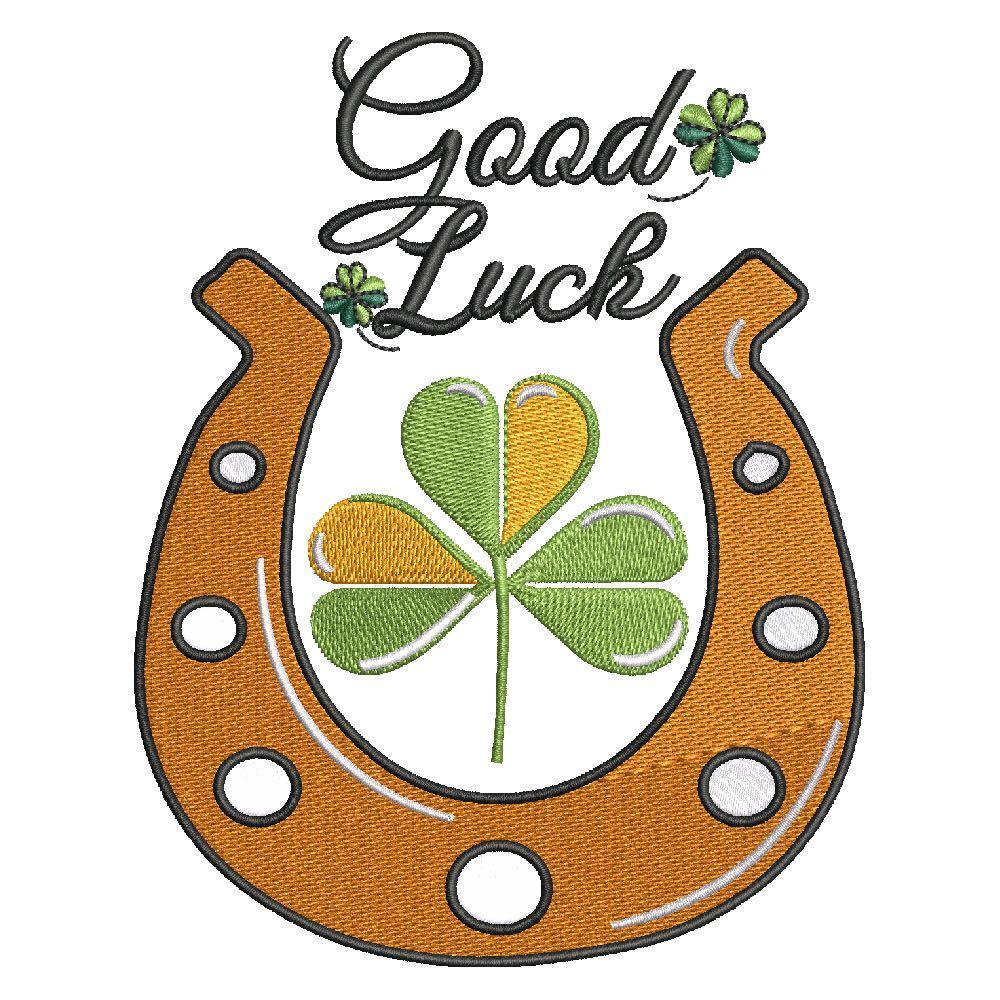 Embroidery Design: Good Luck Patricks