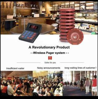 NADAMOO Restaurant Pager System with 10 Coaster Pager Wireless Paging System Calling System Portable
