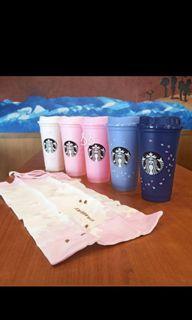 Starbucks Tumbler Reusable Cup Set Hot Spring Cherry Blossom Pink Purple 2021