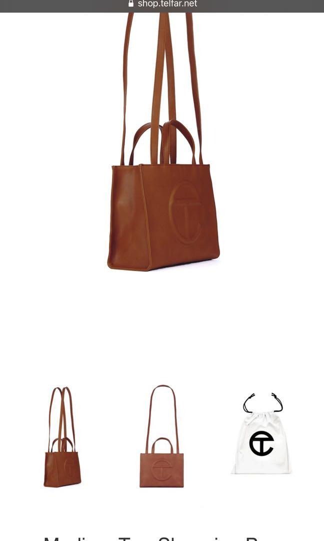 Telfar medium tan bag