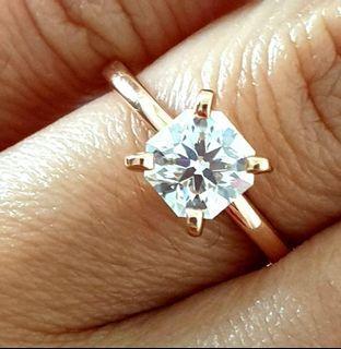 0.90 Carat Rare Hearts & Arrows Square Radiant Diamond