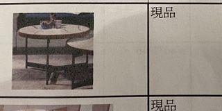 仿大理石圓桌(大的約60x60cm)