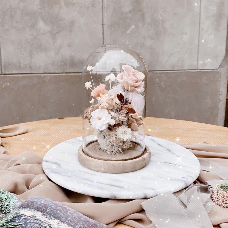 法式花盅  🌹 永生花乾燥花 可在裡面加小燈  可當夜燈使用 可送禮