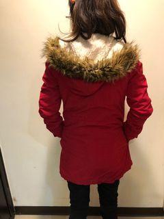AERO 鋪棉長外套(紅)
