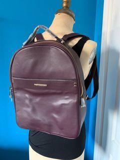 Aldo Pleather Burgundy Backpack