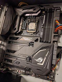Asus ROG Maximus IX Code + intel i5 7400 + Cooler Master Case + PSU