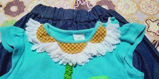 Baju  anak motif bunga matahari