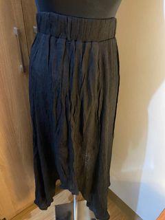 Black Long Flowy Skirt