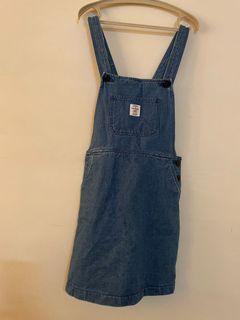 :chocoolate 牛仔吊帶合身短裙