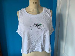 Cropped Tee Bluenotes Women's Size XL