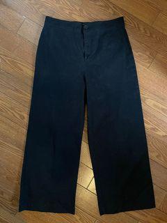 F21 wide leg cropped pants