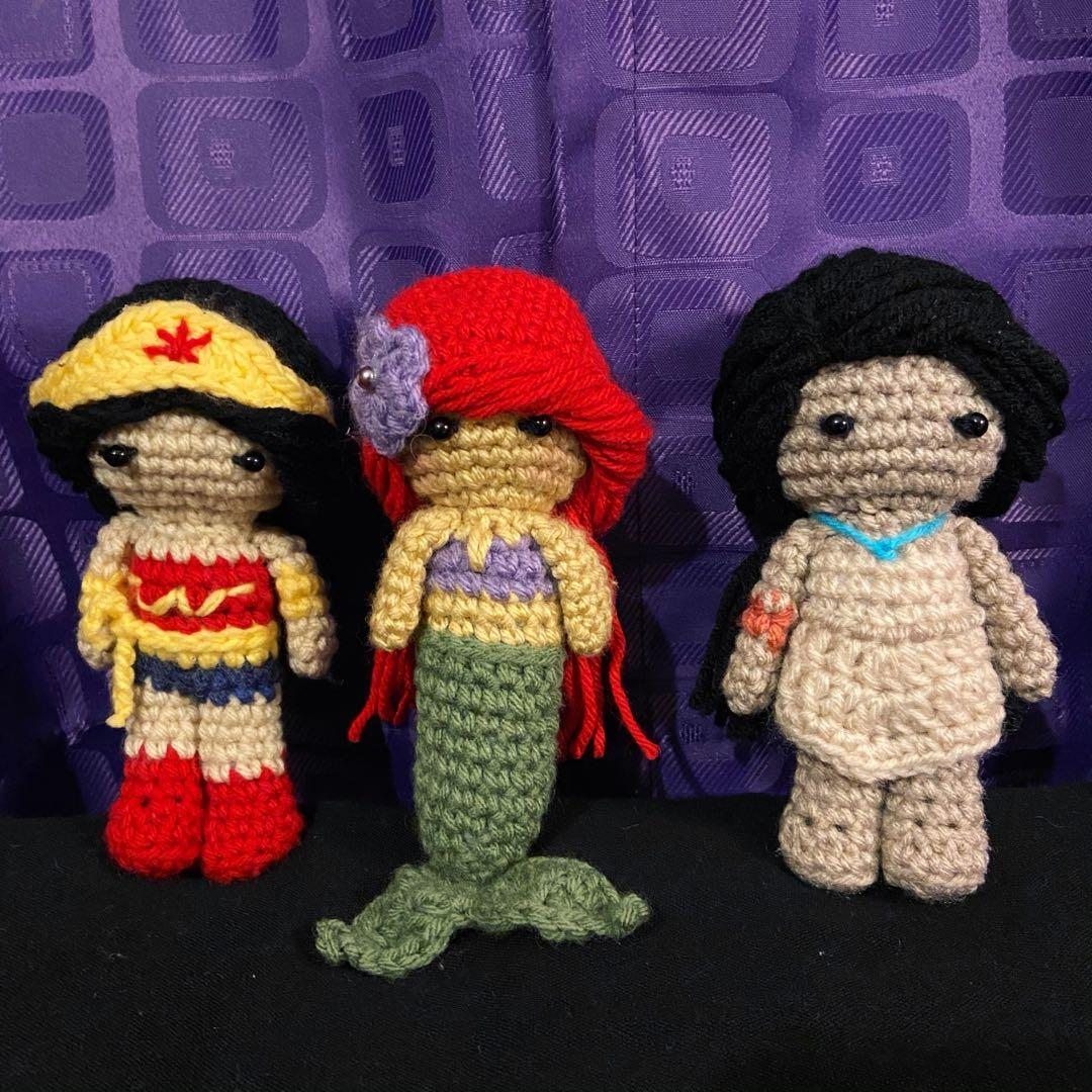 Handmade Crochet amigurumi character dolls