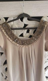Mini dress silk