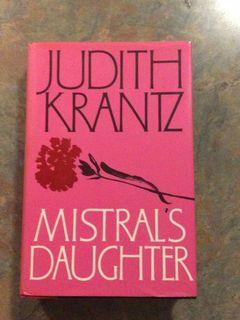 Mistrals Daughter by Judith Krantz.  Vintage 1983  first edition hardcover.  Excellent Condition. Like new.