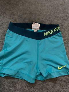 nike pro blue cycling shorts