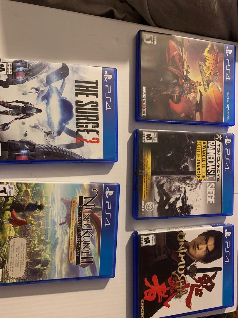 PlayStation 4 games contact for price
