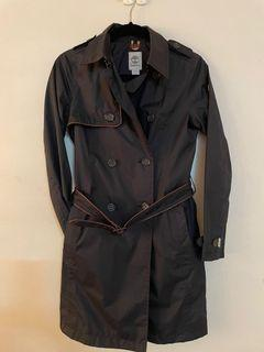 Timberland 黑色防水長風衣外套