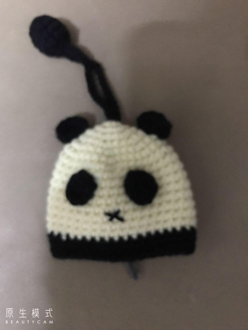 手作毛線~熊貓鑰匙包