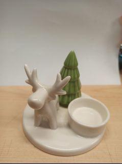 聖誕小鹿造型燭台