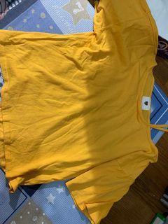 (二手)❤️黃色單肩上衣 ❤️