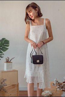 ACW Tiered Midi Dress in Dandelion Prints