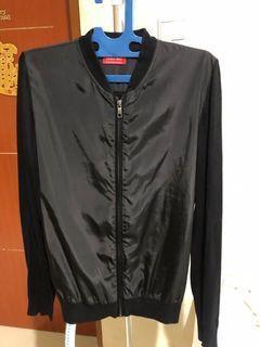 Black Bomber Jacket Wool parachute ZARA