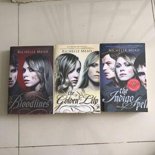 Bloodlines - the Golden Lily - the Indigo Spell by Richelle Mead | Ori Import Novel TAKE ALL 155k