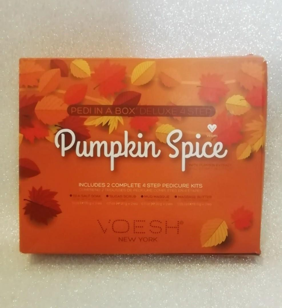 BNIB Pumpkin Spice Pedicure Kit