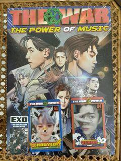 EXO - THE WAR : THE POWER OF MUSIC ALBUM UNSEALED PRELOVED PHOTOCARD CHANYEOL SEHUN PC