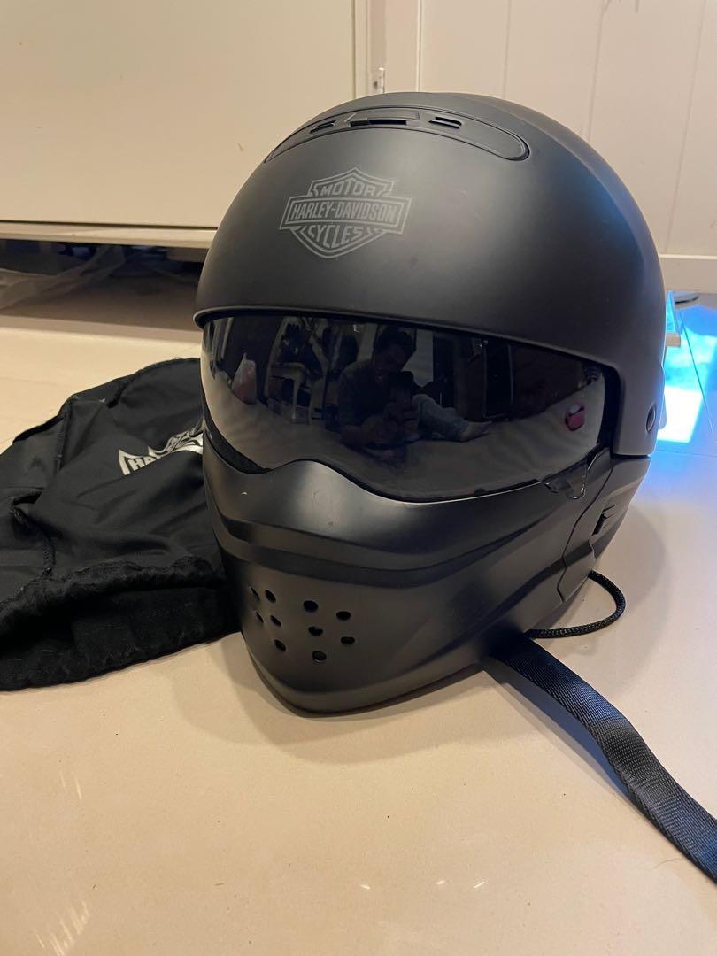 Harley Davidson 原廠哈雷消光黑多功能安全帽