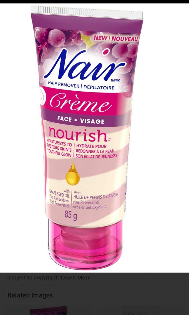 🌸Nair Nourish Hair Removal Crème for Face with Grape Seed Oil