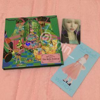 Red Velvet - The Reve Festival Finale (Scrapbook ver.) PC & Receipt Wendy