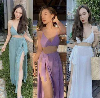 Summer set (tosca & purple)