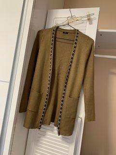 小香風鏈條設計針織外套
