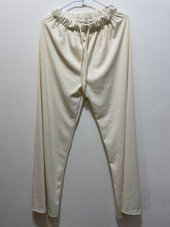 全新米白彈性長褲