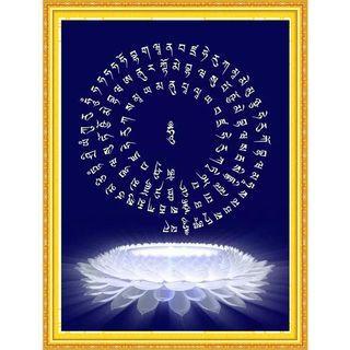 鑽石畫佛教金剛薩埵佛百字明咒佛經點鑽貼鑽石繡十字繡