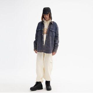 近全新 WKNDRS SNOW WASH COTTON SHIR 牛仔外套 單寧 襯衫 古著