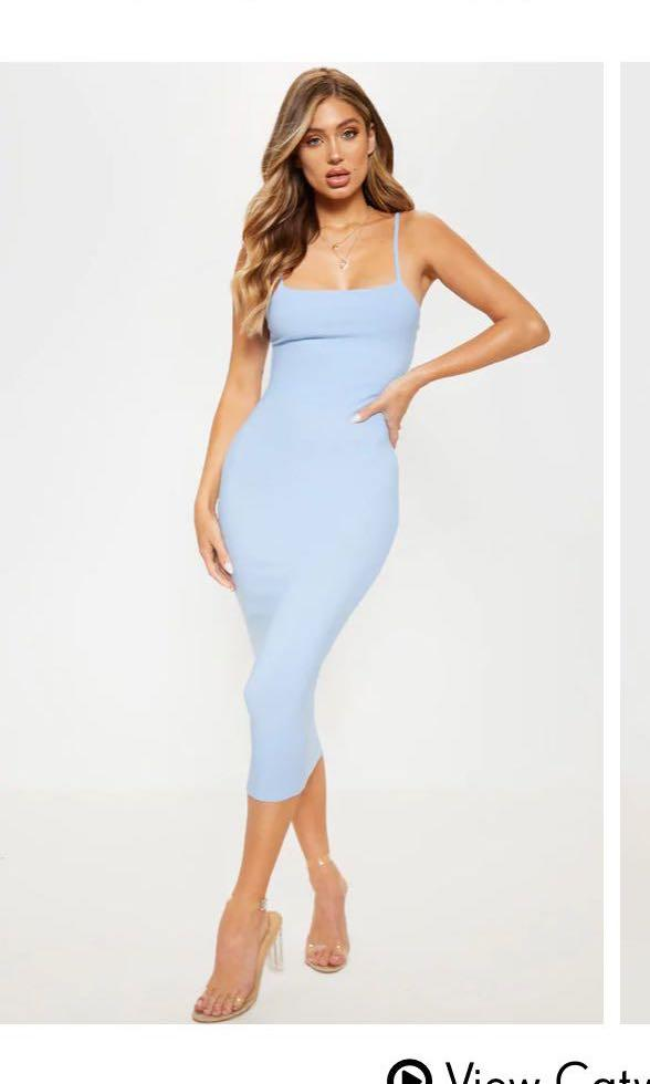 Baby blue midi dress UK 12